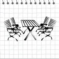 Садовые столы, скамейки, стулья