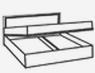 Кровать 1600 (подъемная, с мягкой спинкой) ВИОЛА(VIOLA)