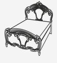 Кровать 1600 РЕДЖИНА ГОЛД