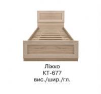 Кровать односпальная КТ-677 КОРВЕТ