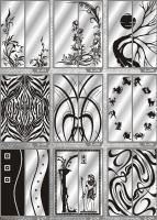 Рисунки ФЕНИКС зеркало пескоструй (пример 30)